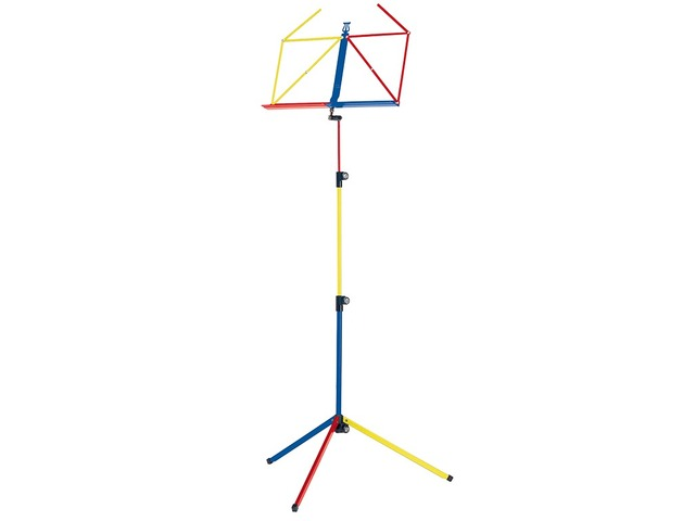 Pupiter K&M 100/1, Music stand deluxe 3 delig folding Model, green Blue orange