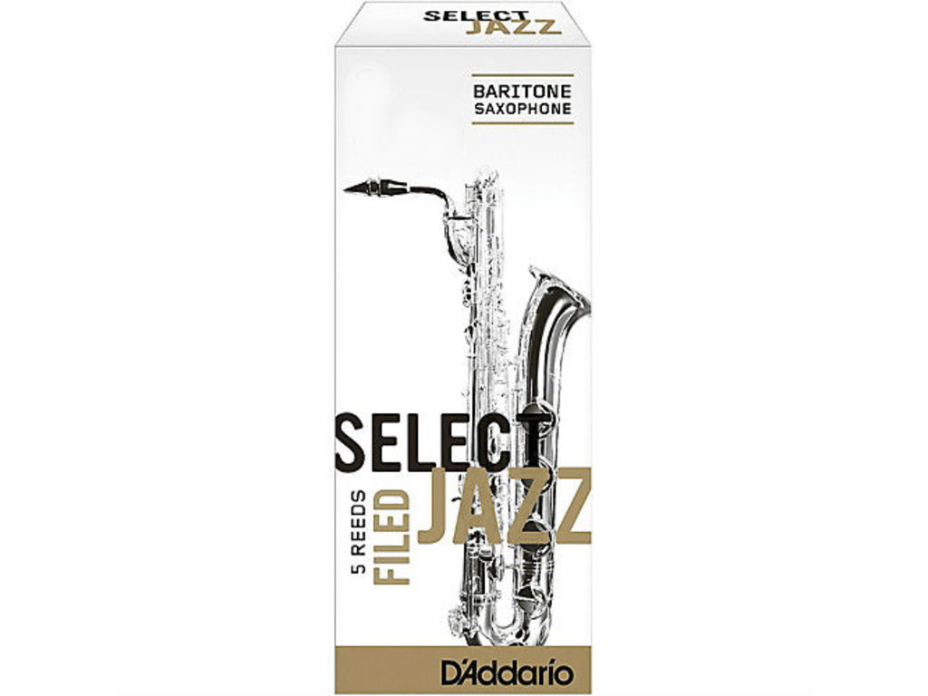 Anches D'Addario Select Jazz Filed pour Bariton Saxophone, force 3S, 5 pičces