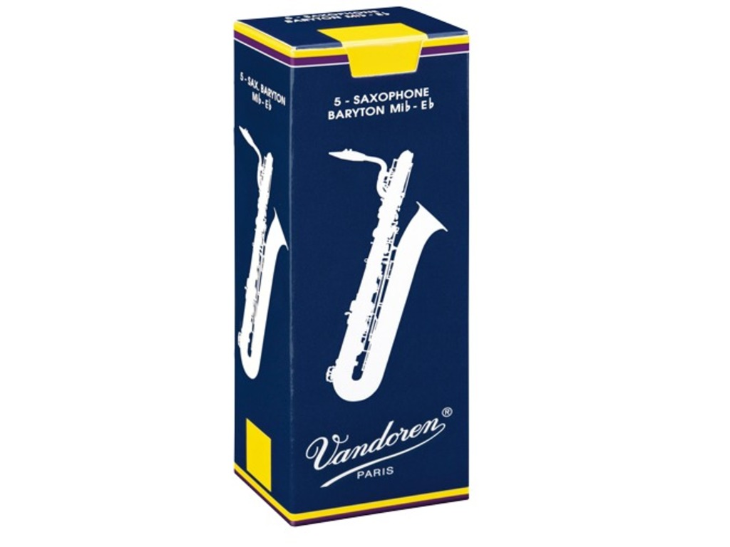 Reeds Vandoren for Baritone Saxophone, Traditional, strength 5,0, 5 pieces