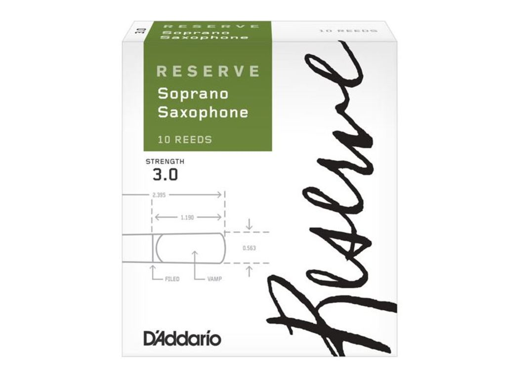 Reeds D'Addario reserve for Saxophone Soprano, strength 3,5, 10 pieces