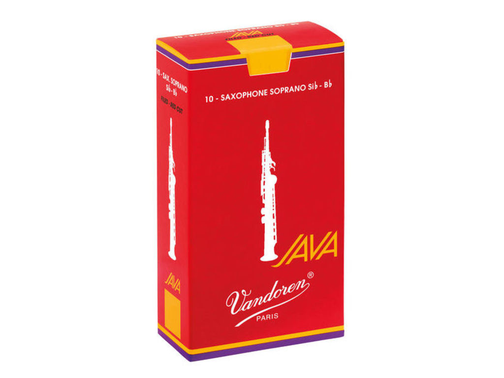 Reeds Vandoren for Soprano Saxophone Java Filed Red, strength 2,5, 10 pieces