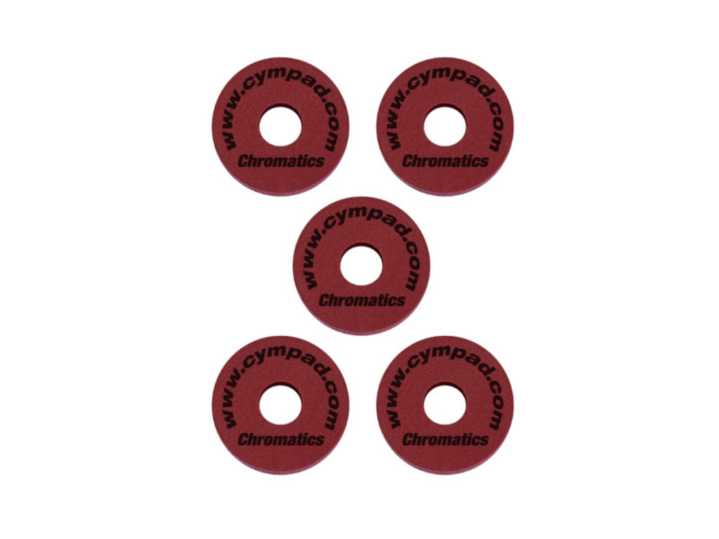 Cymbal felt Cympad CPV515C, Chromatics crimson, 5 pieces 40mm/15mm