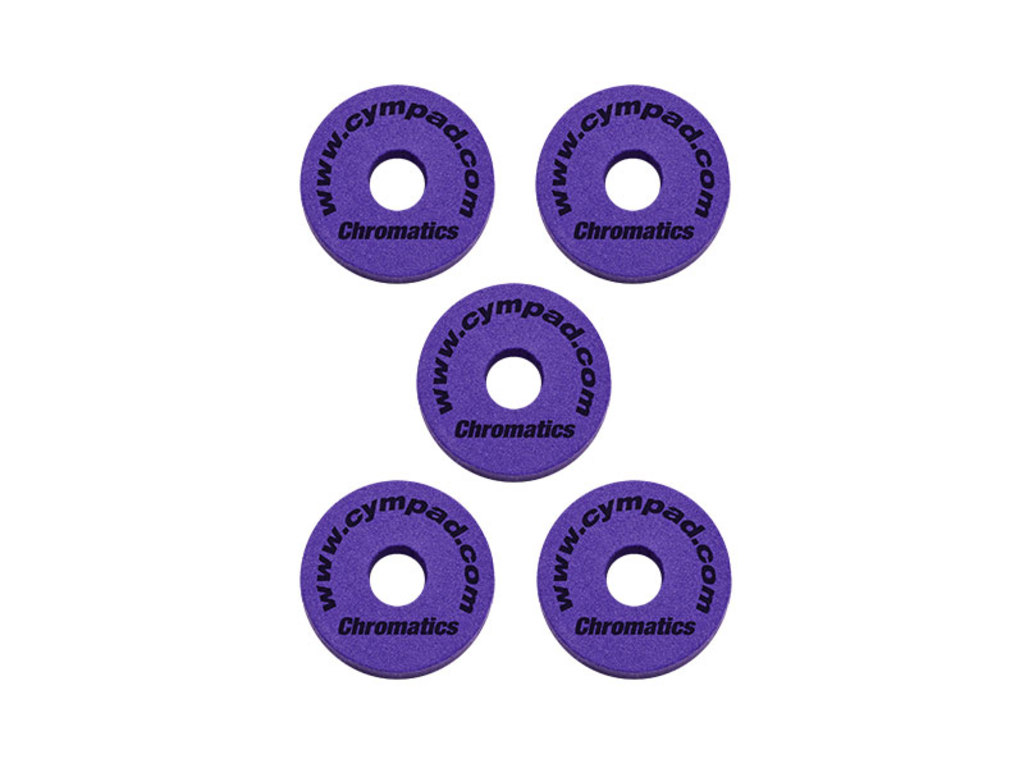 Cymbal felt Cympad CPV515P, Chromatics Purple, 5 pieces 40mm/15mm