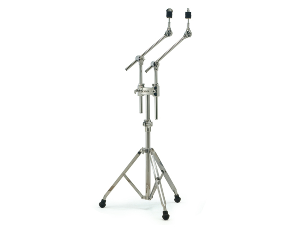 Cymbal Boomstandaard Sonor DCS448, double cymbal stand, dubbele poten