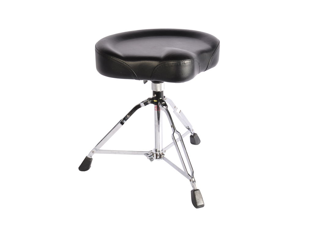 Drum Throne Adams DT901, Black Leather saddle model, double-braced