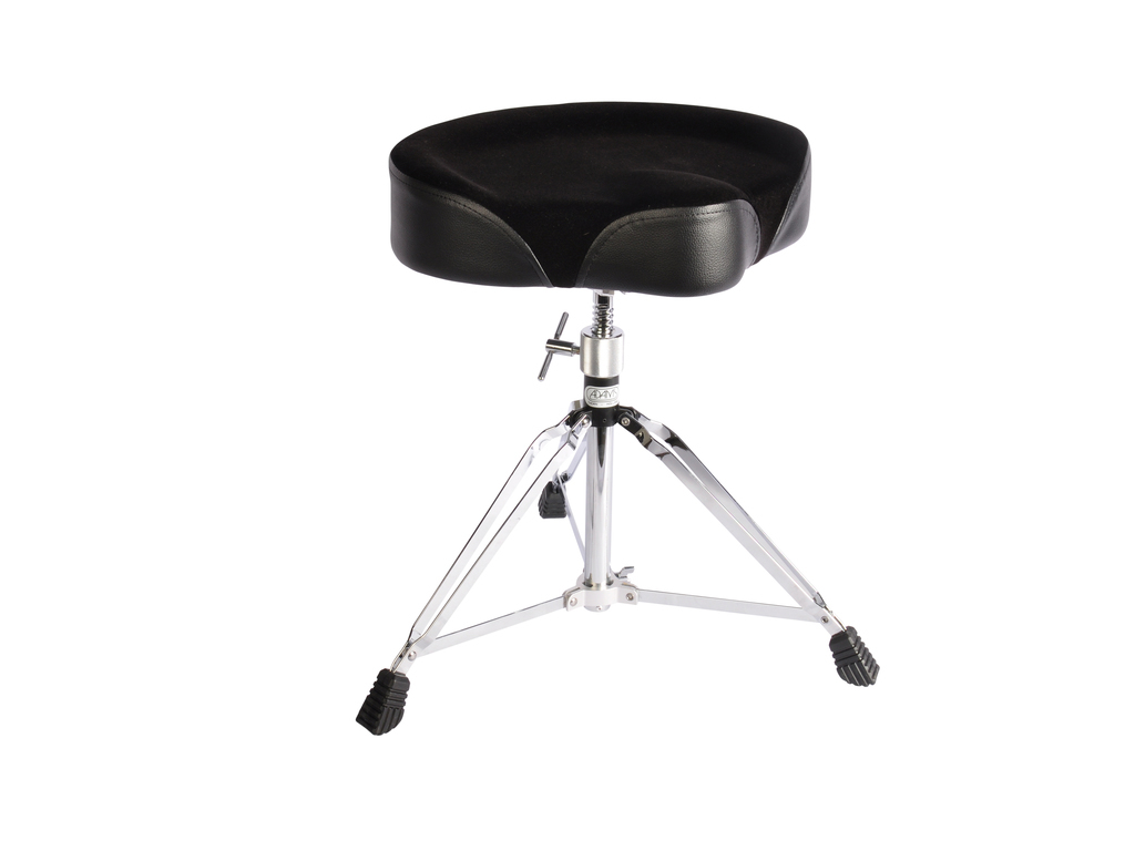 Drum Throne Adams DT902, Black sparkle with Black fabric saddle model, double-braced