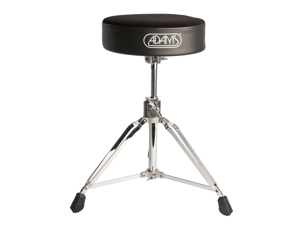 Drum Throne Adams DT900B, round Model fabric with spindel, Black, double braced
