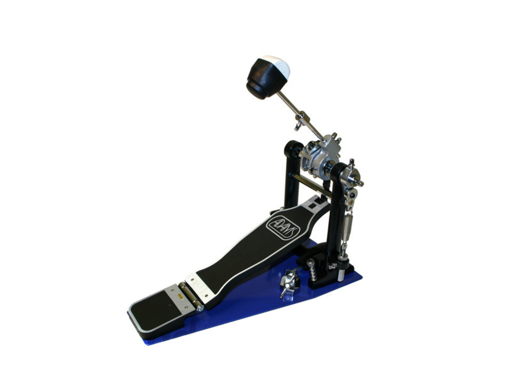 Bass drum pedal Adams PD-122A, single pedal with double chain, plastic/felt beater