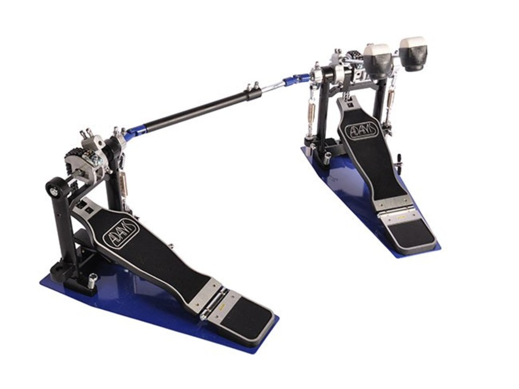 Bass drum pedal Adams PD-222A, double pedal with double chain, plastic/felt beater