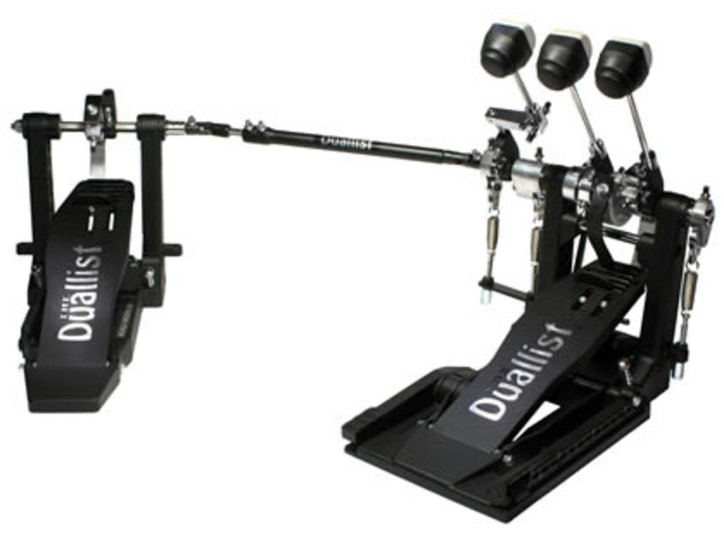 Bass Drum Pedal Duallist Triple Double With Three Beaters Belt Model Plastic Felt Beater