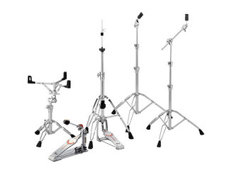 Hardware pack Pearl HWP-930, 1x Boom Cymbal Stand 1x rechte Cymbal Stand 1x Hi-Hat Stand 1x Snare stand 1x pedaal