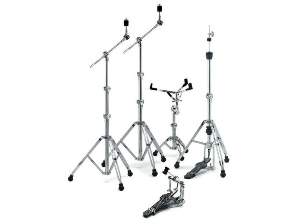 Hardware set Sonor HS400, Snare Drum Stand, 2 x boomstand, Bass Drum pedal, hihat Stand, double-braced