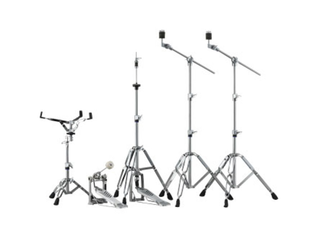 Hardware set Yamaha HW680W, Snare Drum Stand, 2 x boomstand, Bass Drum pedal, hihat Stand, double-braced