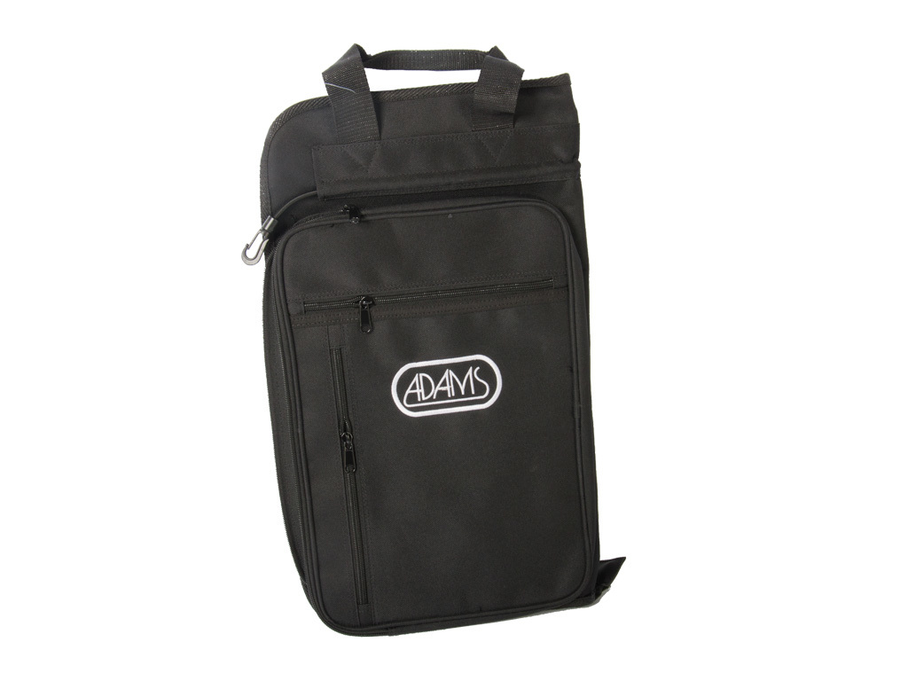 Stick bag Adams BAGB, for maximum 25 pair Sticks, with Two straps, side pocket and attachment hooks, Black