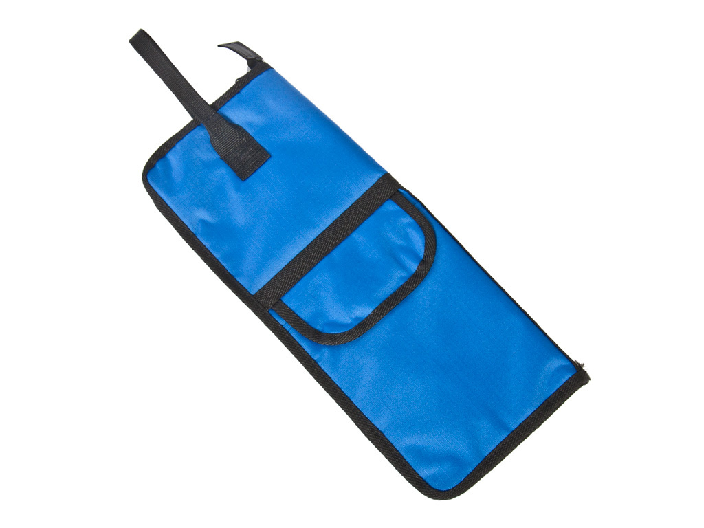 Stick bag Adams DWB, for maximum 12 pair Sticks, with side pocket and attachment hooks, Color Blue