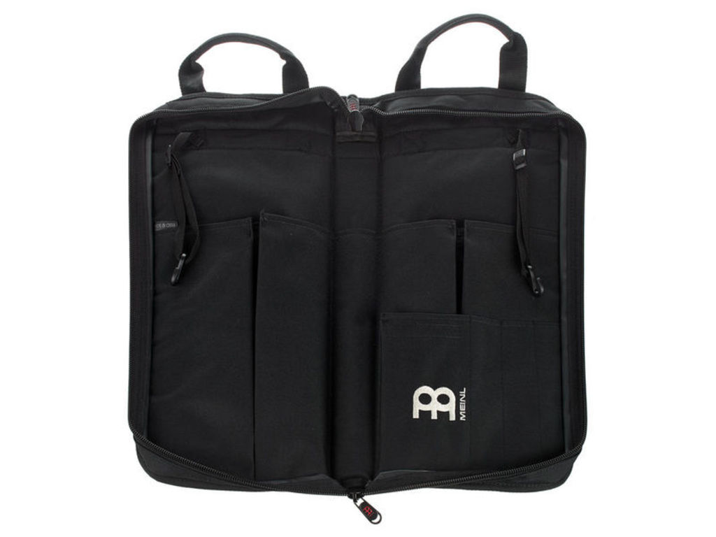 Stick bag Meinl MSB-1, Professional Stick bag, with Strap, side pocket and attachment hooks, Black