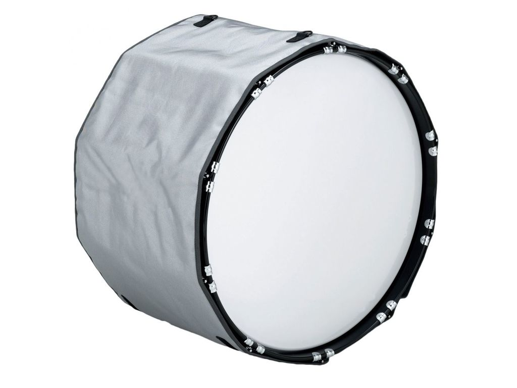 "Bassdrum Hoes Pearl MDC 20"", wit, marching"