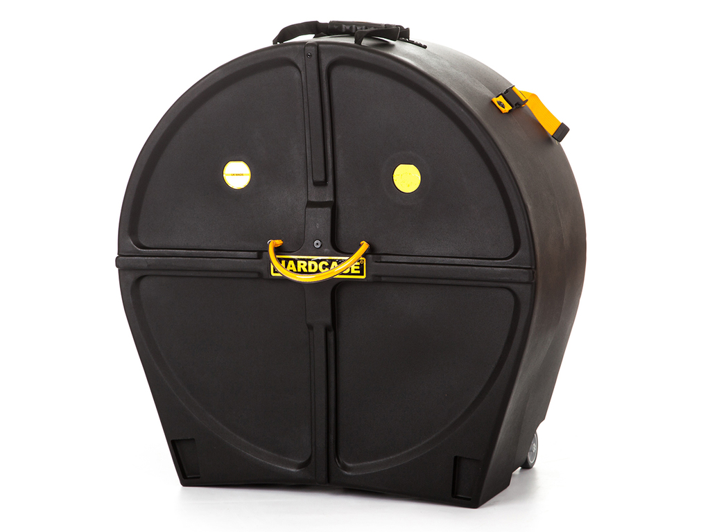 "Bass Drum Case Hardcase HNMB24(S), 24"" x 10"" and 24"" x 12"", with wheels, for Marching Bass Drum"