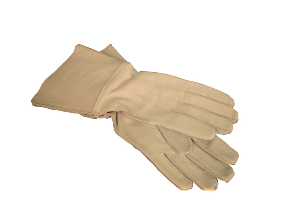 Gloves leather maat 9 (M) with kap