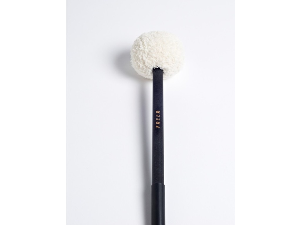 Bass Drum Mallets Tom Freer BDFR, Maple ball roller with synthetic fur
