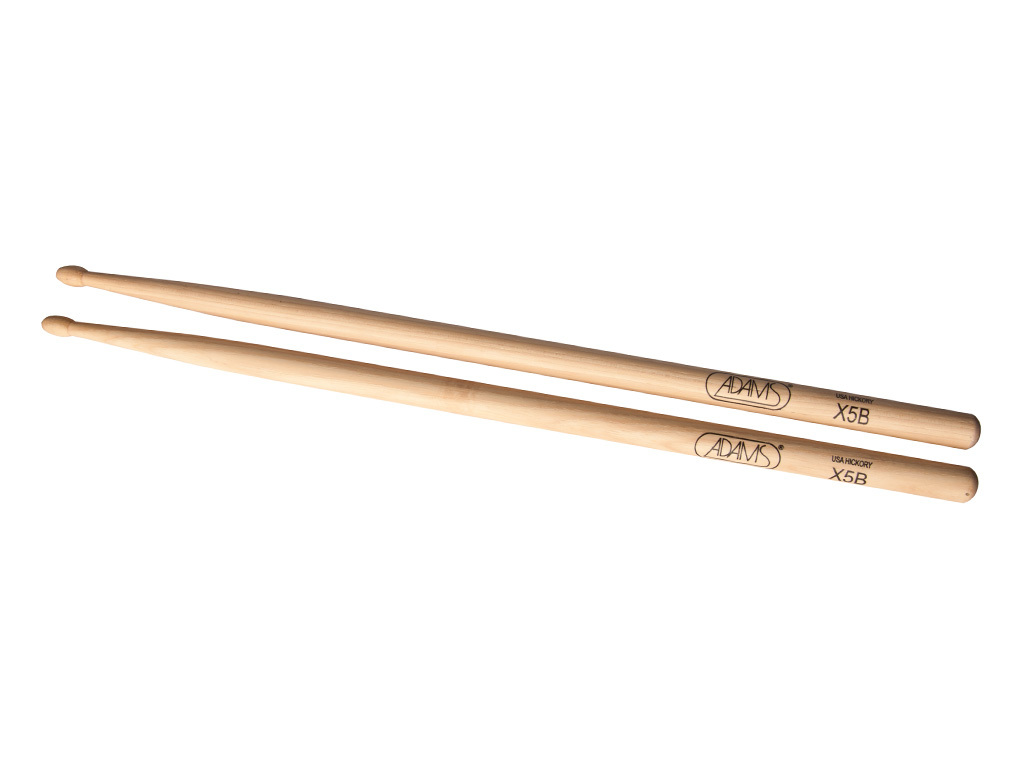 "Drumsticks Adams X5B, Hickory X5B .590"", length 16 1/2"", Oval, wooden tip"