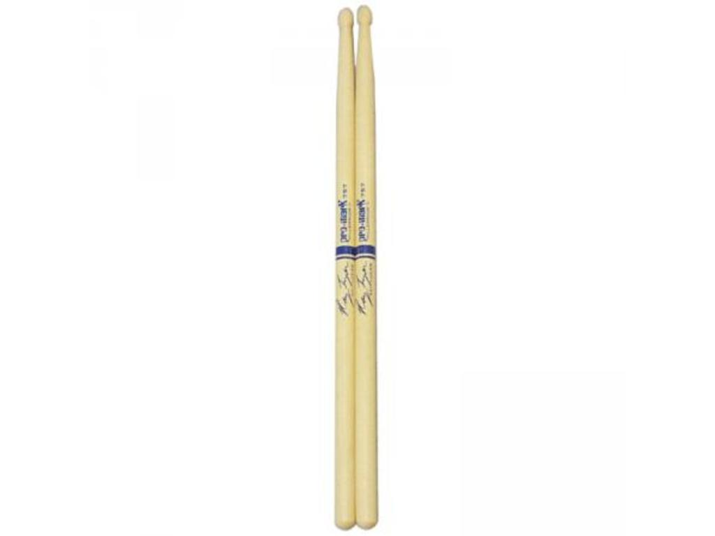 "Drumstokken Promark TX757W, Signature Ray Luzier, Hickory 757 .590"", Lengte 16 1/8"", Oval, Houten tip"