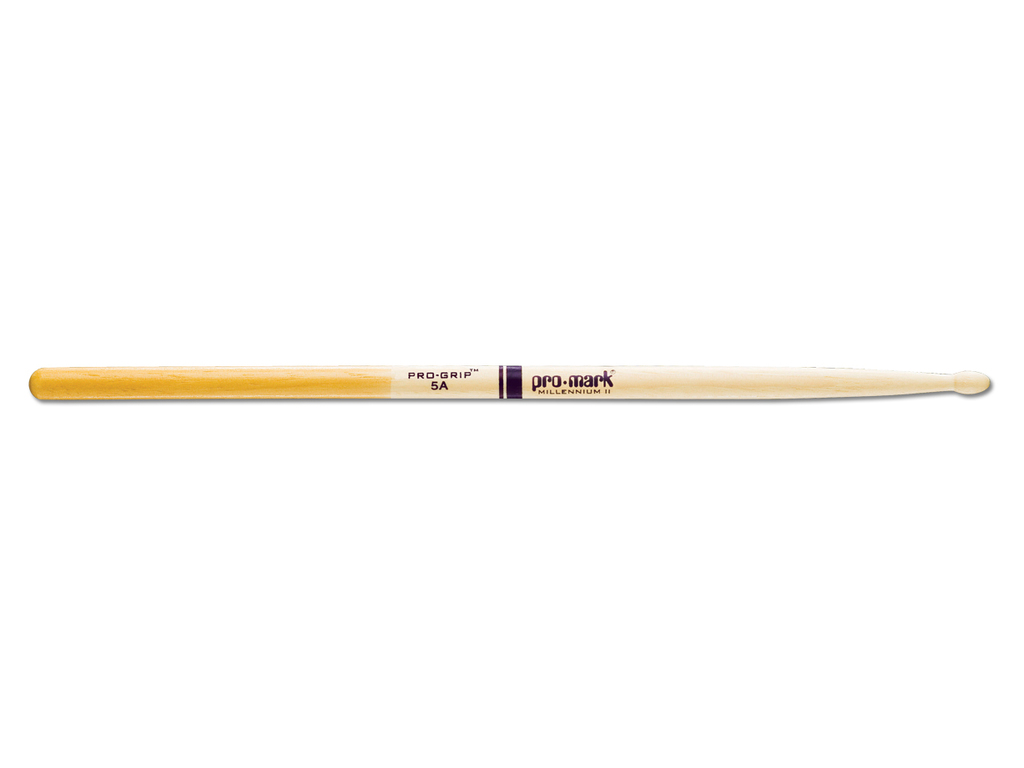 "Drumstokken Promark TXPG5AW, ""Pro-Grip"", Hickory (5A) .551"", Lengte 16"", Oval, Houten tip"