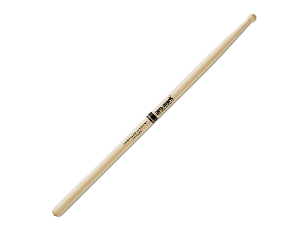 "Drumstokken Promark TXPR5BW, ""Pro Round"", Hickory (5B) .590"", Lengte 16"", Rond, Houten tip"