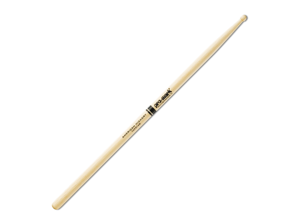 "Drumstokken Promark TXR7AW, ""The Natural"" Hickory (7A) .512"", Lengte 15 3/8"", Oval, Houten tip"