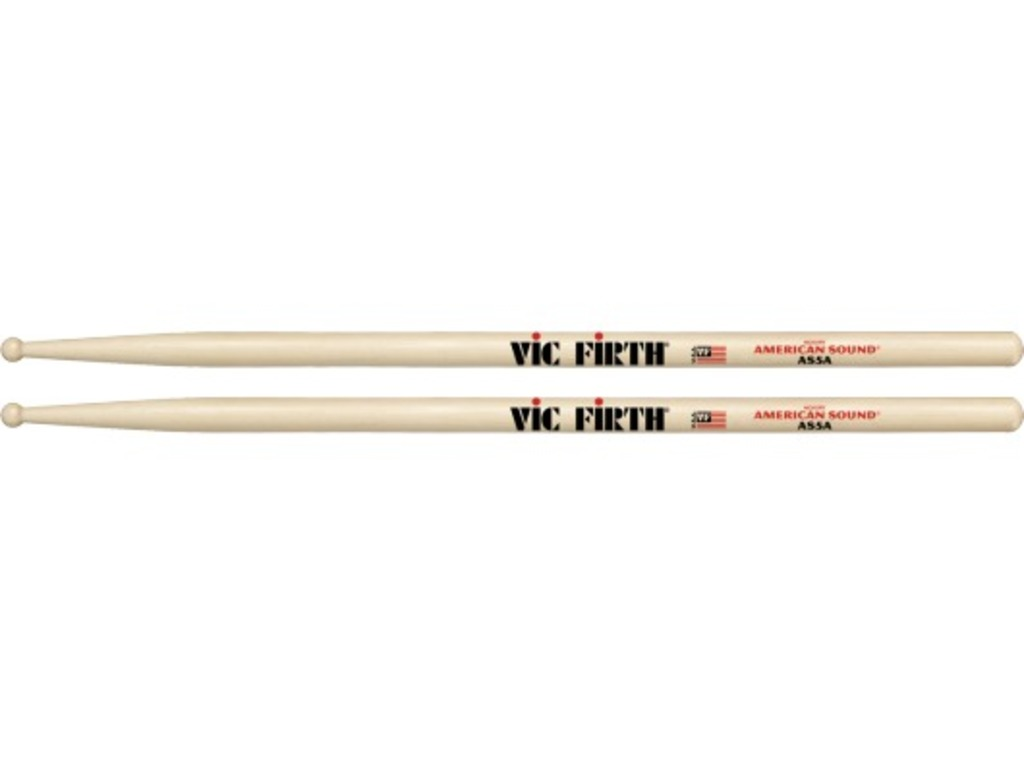 "Drumstokken Vic Firth AS5A, American Sound, Hickory AS5A .565"", Lengte 16"", Rond, Houten tip"