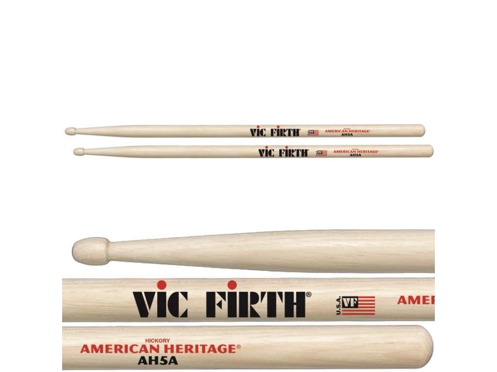 "Drumstokken Vic Firth AH5A, American Heritage, Maple 5A .565"", Lengte 16"", Tear Drop, Houten Tip"
