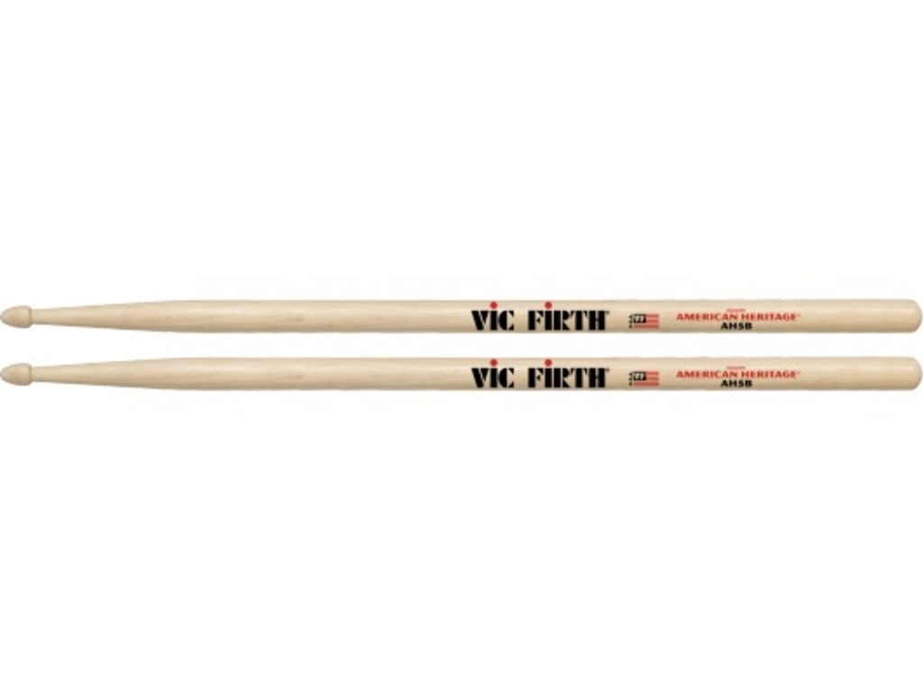 "Drumsticks Vic Firth AH5B, American Heritage, Maple 5B .595"", length 16"", Tear Drop, wooden tip"