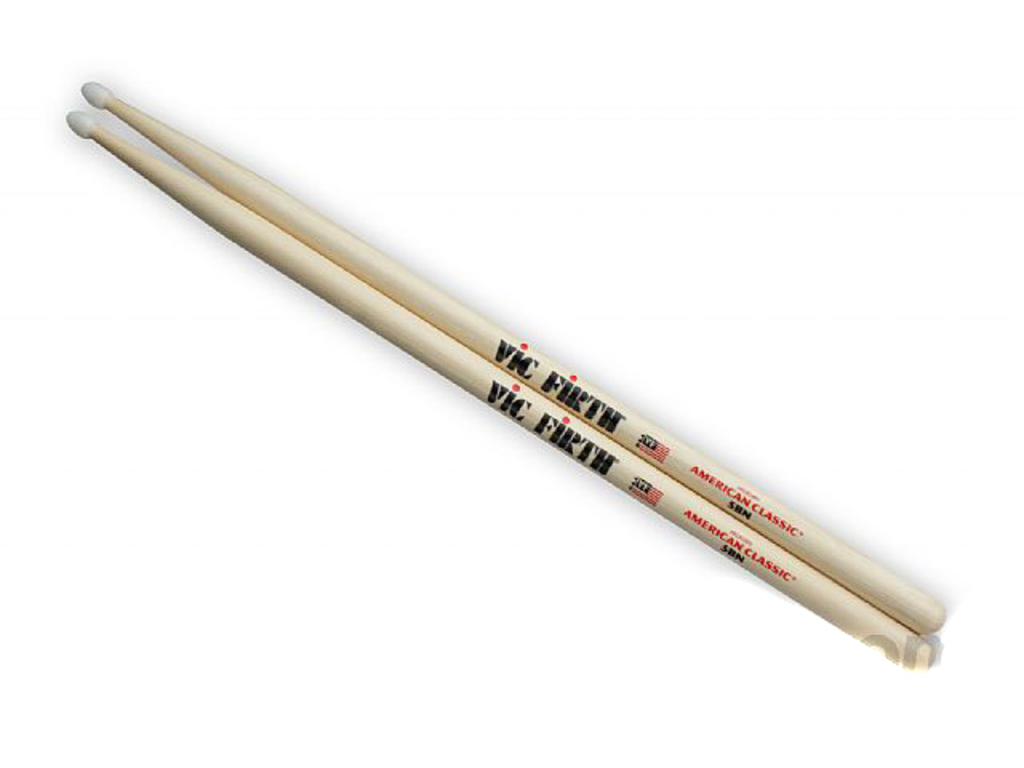 "Drumstokken Vic Firth 5BN, American Classic, Hickory 5BN .595"", Lengte 16'', Tear Drop, Nylon Tip"