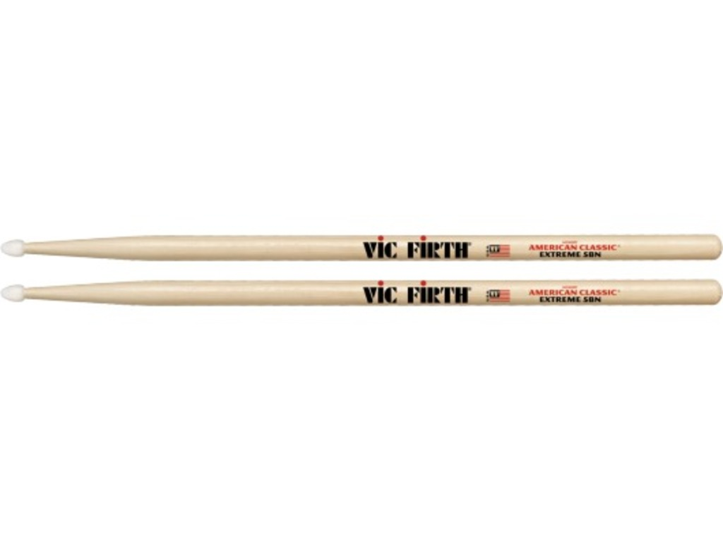 "Drumstokken Vic Firth X5BN, American Classic, Extreme, Hickory X5BN .595"", lengte 16 1/2'', Tear Drop, Nylon Tip"