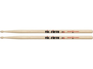 "Drumstokken Vic Firth 5B, American Classic, Hickory 5B .595"", Lengte 16"", Tear Drop, Houten Tip"