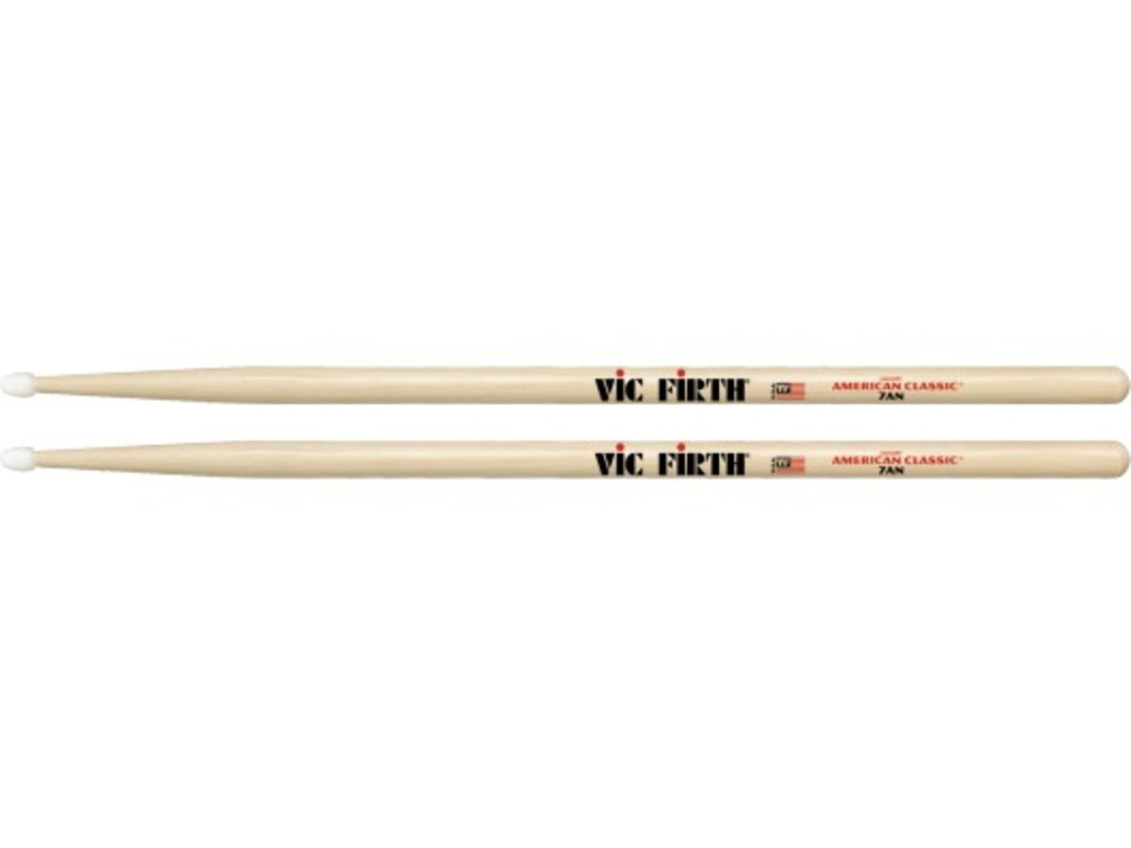 "Drumsticks Vic Firth 7AN, American Classic, Hickory 7AN .540"", length 15 1/2'', Tear Drop, Nylon Tip"
