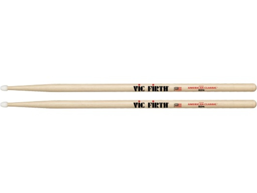 "Drumstokken Vic Firth 8DN, American Classic, Hickory 8DN .540"", lengte 16'', Tear Drop, Nylon Tip"