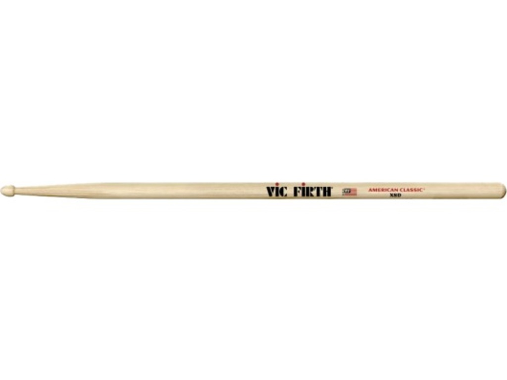 "Drumsticks Vic Firth X8D, American Classic, Extreme, Hickory X8D .540"", length 16 1/2"", Tear Drop, wooden Tip"