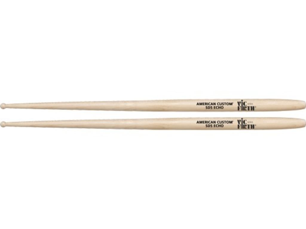 "Drumstokken Vic Firth SD5, American Custom, Echo, Maple SD5 .670"", Lengte 15 3/4"", Rond, Houten Tip"