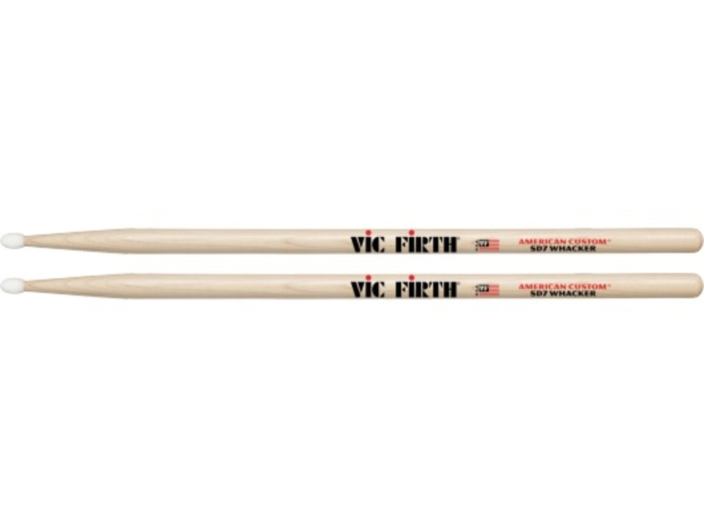 "Drumstokken Vic Firth SD7, American Custom, Whacker, Maple SD7 .590"", Lengte 16"", Oval, Nylon Tip"