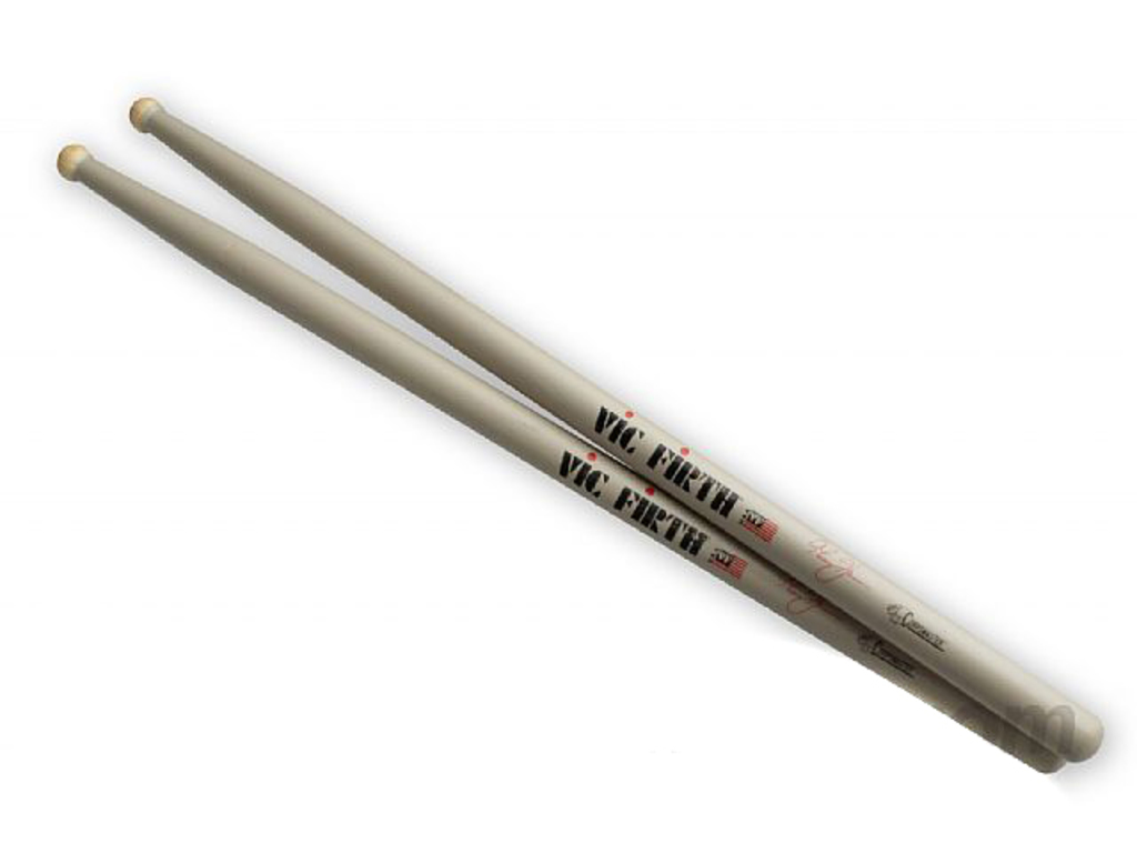 "Drumstokken Vic Firth STH, Corpsmaster Signature Serie, Thom Hannum, Hickory STH .690"", Round, Houten Tip"