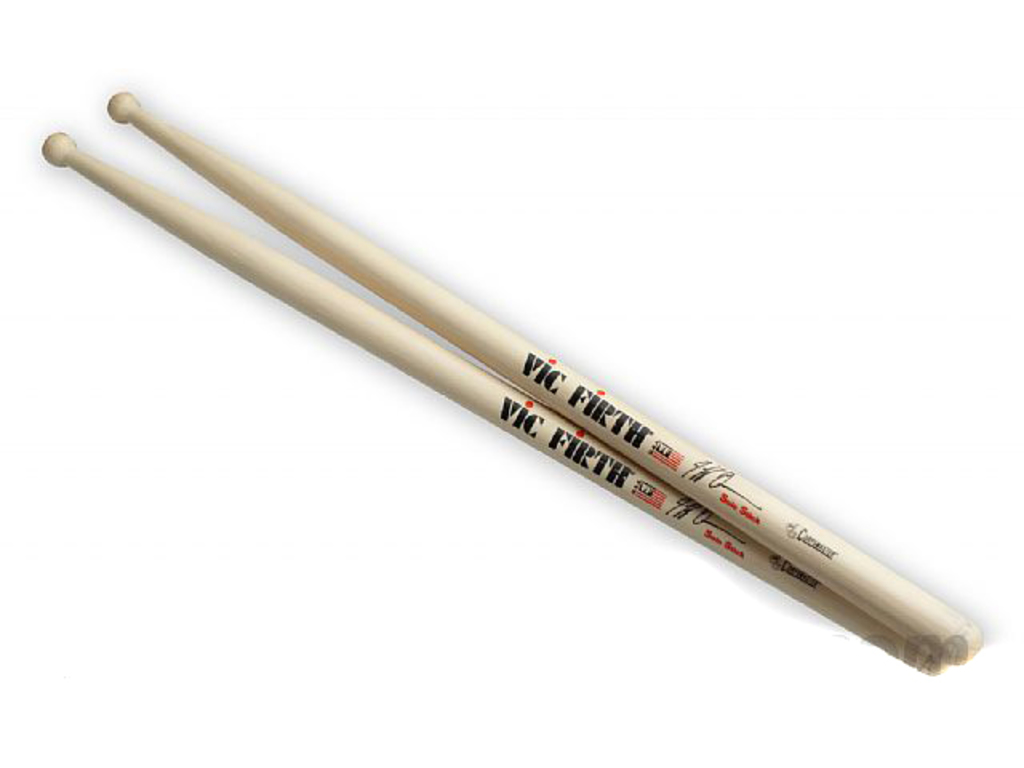 "Drumstokken Vic Firth SJQ, Signature Jeff Queen, Hickory SJQ .675"", Lengte 17"", Rond, Houten Tip"