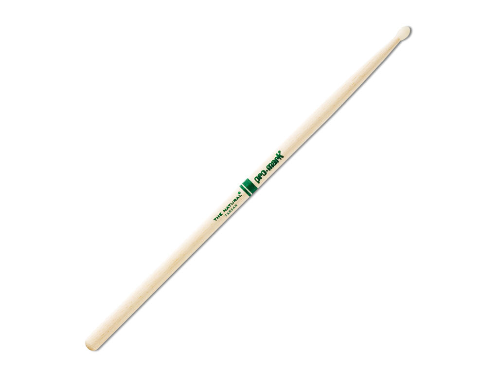 "Drumstokken Promark TXR5AN, ""The Natural"", Hickory (5A) .551"", Lengte 16"", Oval, Nylon tip"