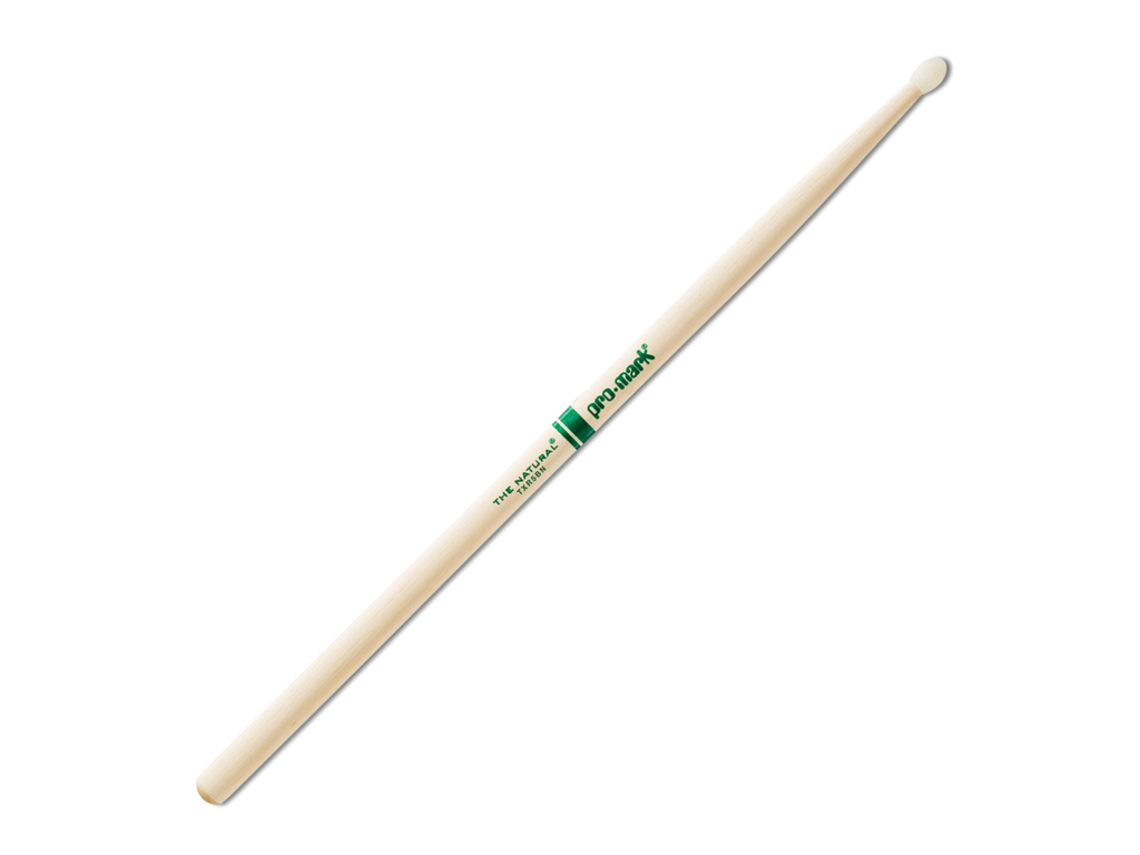 "Drumstokken Promark TXR5BN, ""The Natural"", Hickory (5B) .590"", Lengte 16"", Oval, Nylon tip"