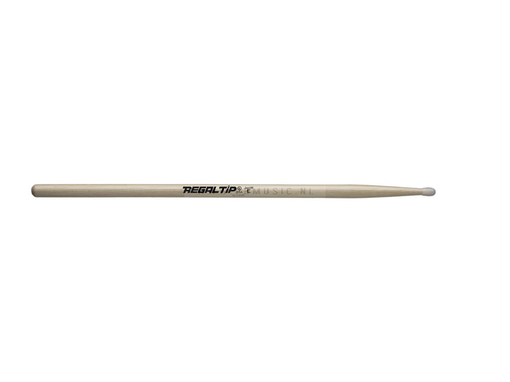 "Drumstokken Regal Tip 011EN, E Serie, E-tip technologie, JAZZ E .520"", Lengte 16"", Tear Drop, Nylon tip"