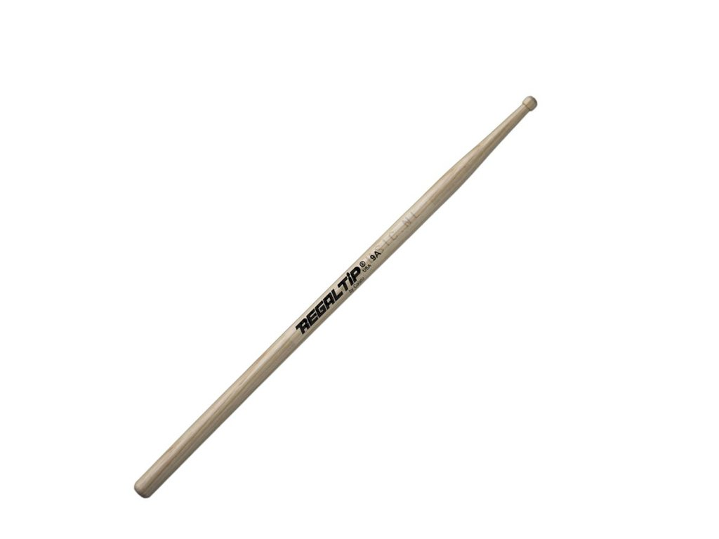 "Drumstokken Regal Tip 209R, Wood Serie, Hickory 9A .580"", Lengte 16"", Barrel, Houten Tip"