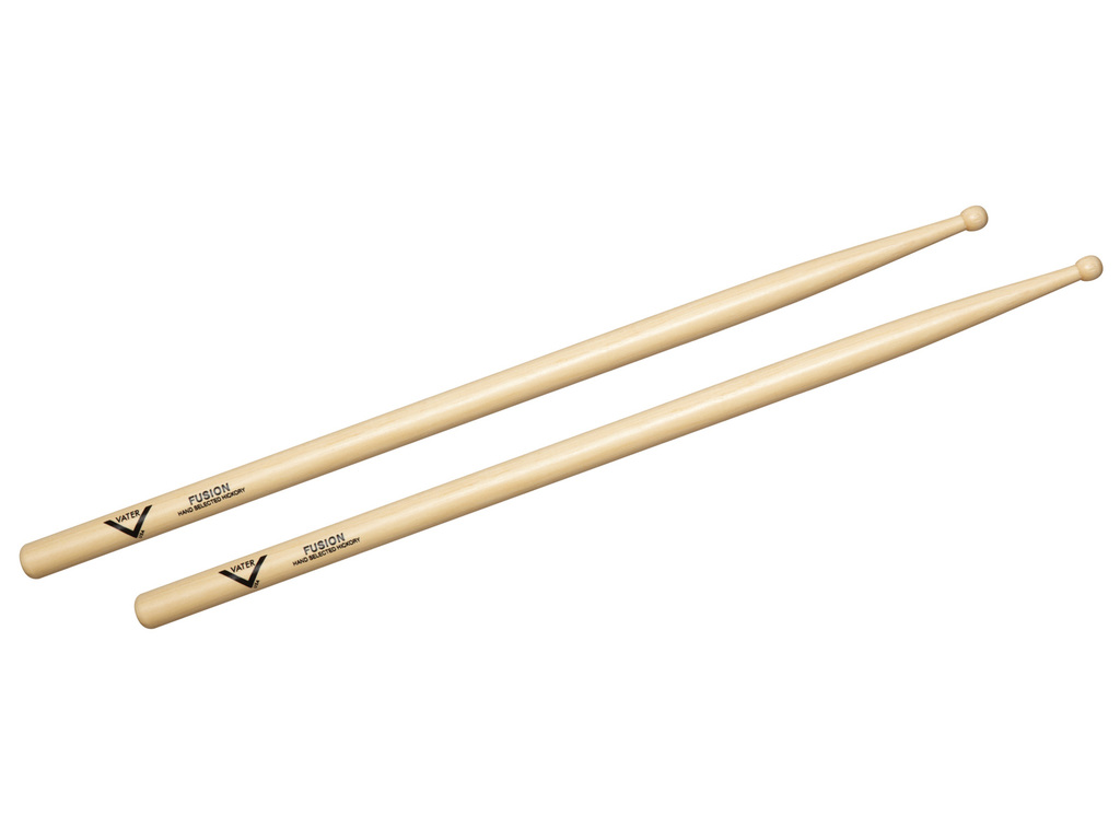 "Drumsticks Vater VHFW, Fusion, Hickory .580"", length 16"", round, wooden Tip"