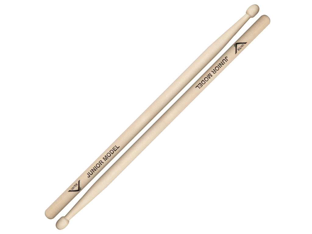 Drumstokken Vater VMJRW, Junior Sticks, Sugar Maple, Oval, Houten Tip