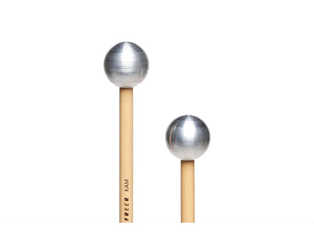 Klokkenspel Mallets Freer KAM, Medium, Aluminium Bal, Rattan