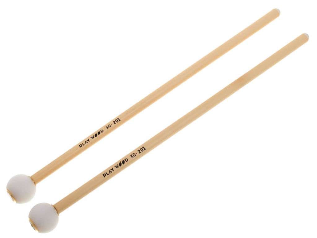 Glockenspiel Mallets Playwood XG201, XG series, Diameter 20mm, Nylon ball, rattan